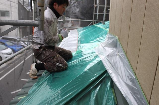 外壁塗装 養生 川越市