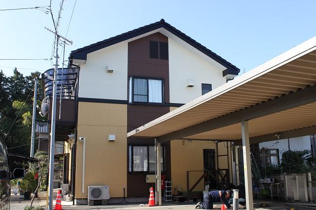 川越市S様邸外壁塗装後写真
