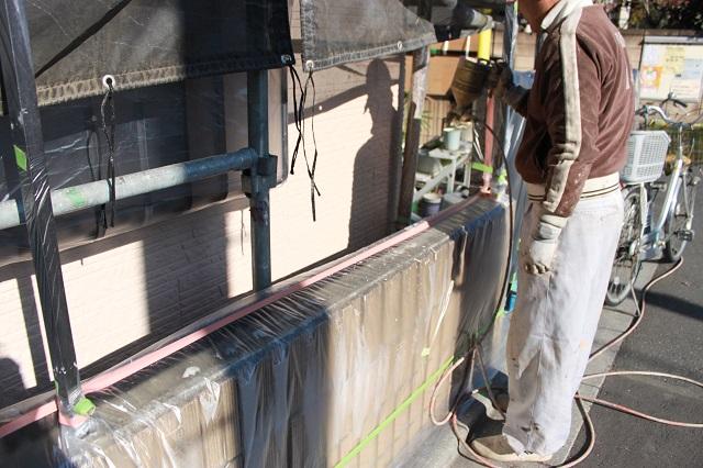 狭山市 外壁吹付け 塗り替え