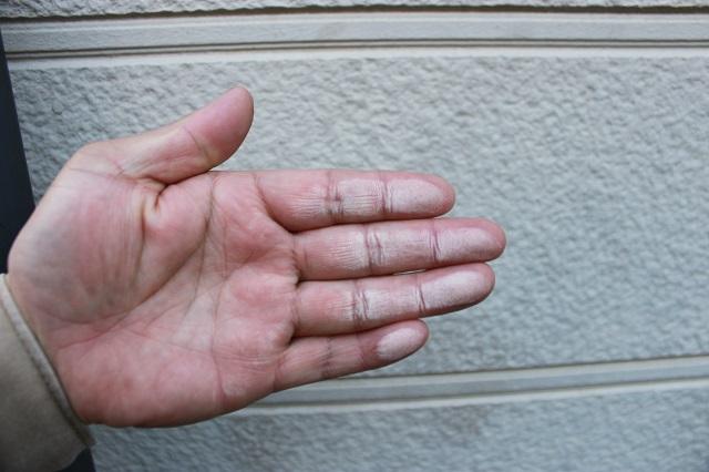 川越市 外壁塗装 チョーキング