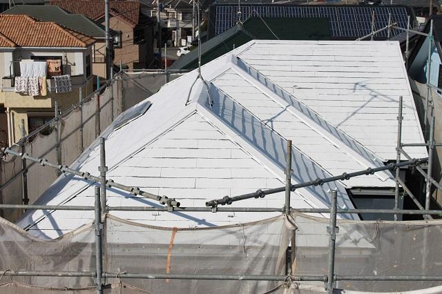 川越市大塚 屋根下塗り塗装
