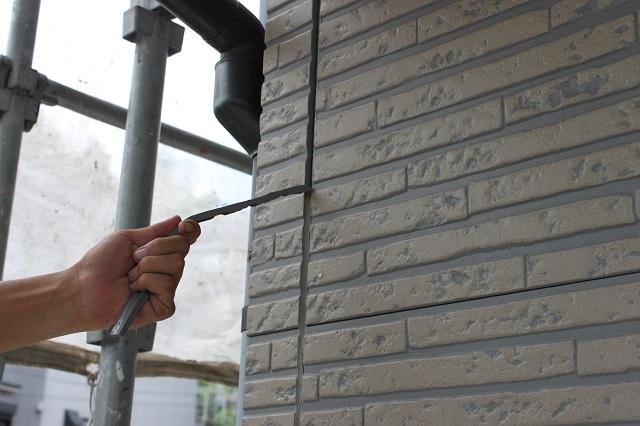 所沢市 外壁目地打ち替え