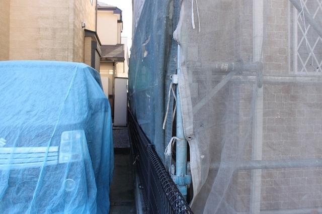 外壁塗装 近隣 車カバー