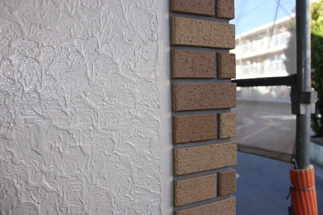 川越市 外壁塗装 タイル境目