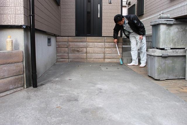 川越市南大塚 外壁塗装 終了後の掃除