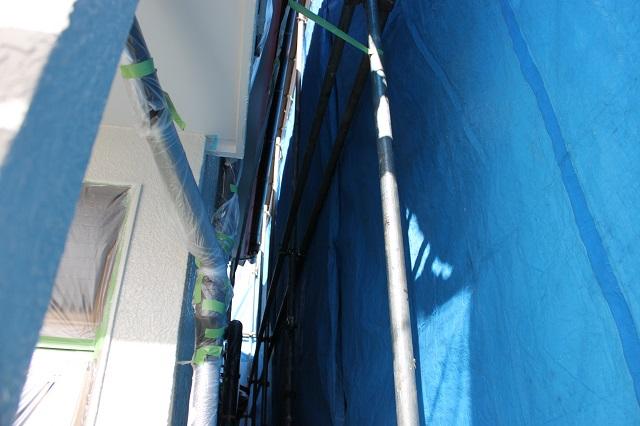 入間市小谷田 外壁塗装 狭い面