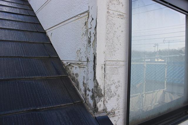 川越市上松原 外壁塗装前 壁の劣化