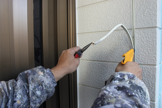 外壁塗装 目地カット