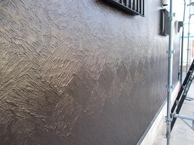 所沢市上安松の艶が増した外壁