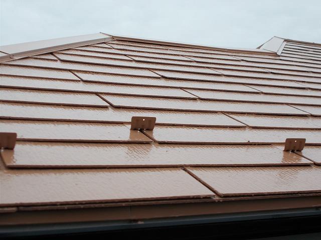 所沢市上安松の欠けや割れも補修した屋根