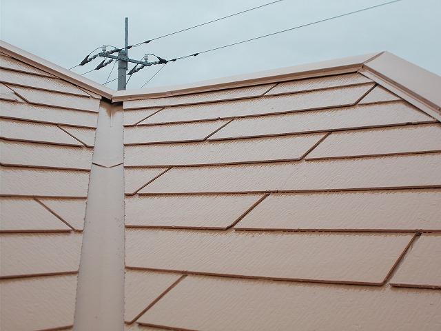 所沢市上安松の屋根の谷樋廻り