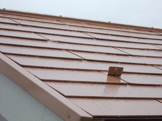 所沢市上安松の屋根上塗り直後