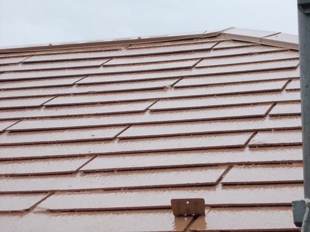 所沢市上安松の屋根上塗り