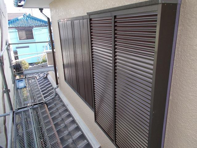 2階部分の雨戸塗装