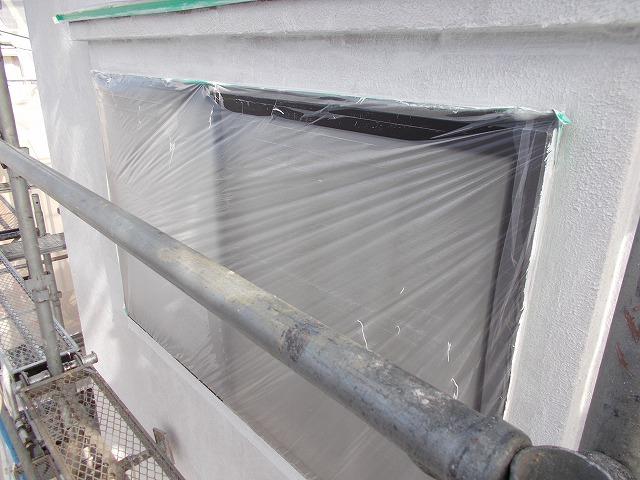 所沢市上安松の窓廻り下塗り塗装
