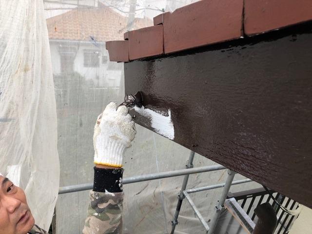 破風板の付帯塗装